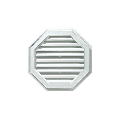 """22"""" Octagonal Vinyl Gable Vent white"""