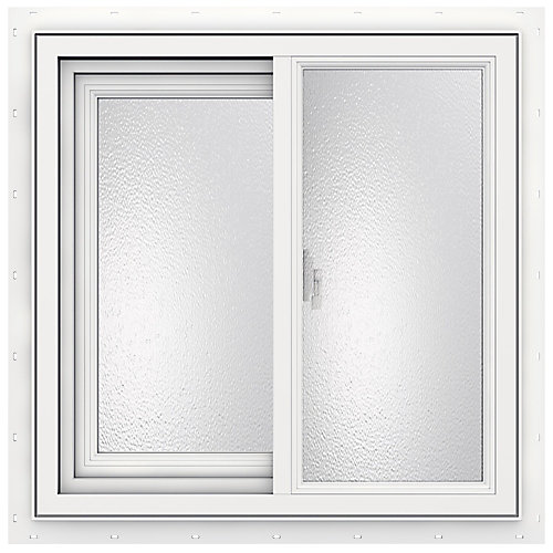 24-inch x 24-inch 3500 Series Sliding Vinyl Obscure Window - ENERGY STAR®