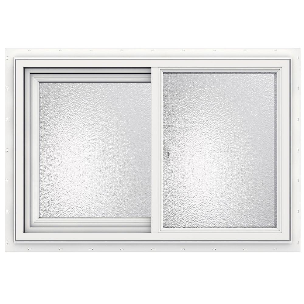 JELD-WEN Windows & Doors SÉRIE 3500 Coulissante en vinyle 36 po x 24 po - Faible émissivité - obscure - ENERGY STAR®