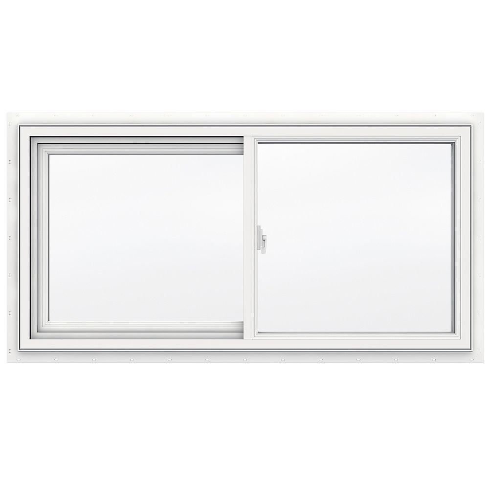 JELD-WEN Windows & Doors SÉRIE 3500 Coulissante en vinyle 48 po x 24 po - Faible émissivité - ENERGY STAR®