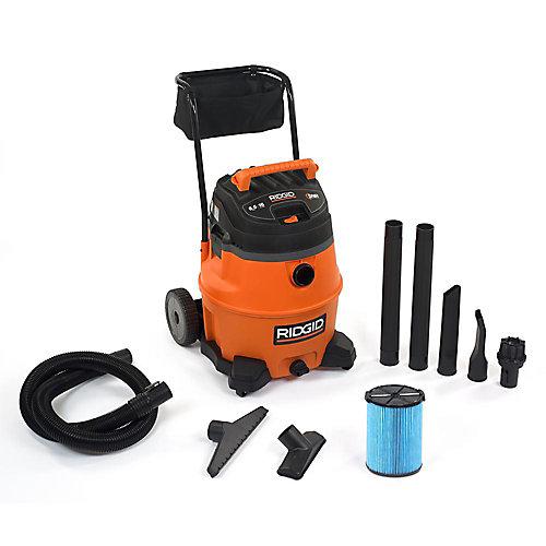 60L (16 gal.) 6.5 Peak HP Wet Dry Vacuum with Cart