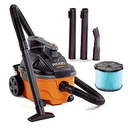 15 L (4 Gal.) 5 Peak HP Portable Wet Dry Vacuum with Wheels & Storage