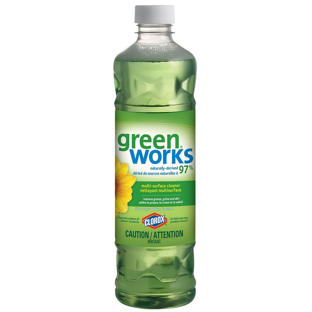GreenWorks Nettoyant multisurface Green Works au parfum d'agrumes original, 828 mL