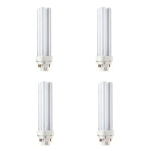 18W PL-C Neutral 4-Pin CFL Light Bulb (4-Pack)