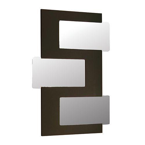Miroir Emile - 3 pièces - Collage - Bois de Wenge