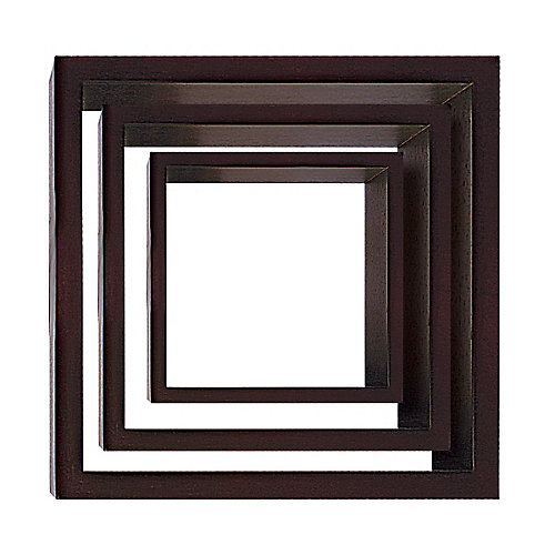 Ensemble de 3 cubes Noir
