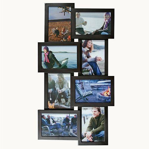 Cadre de collage noir Array  pour 8 photos