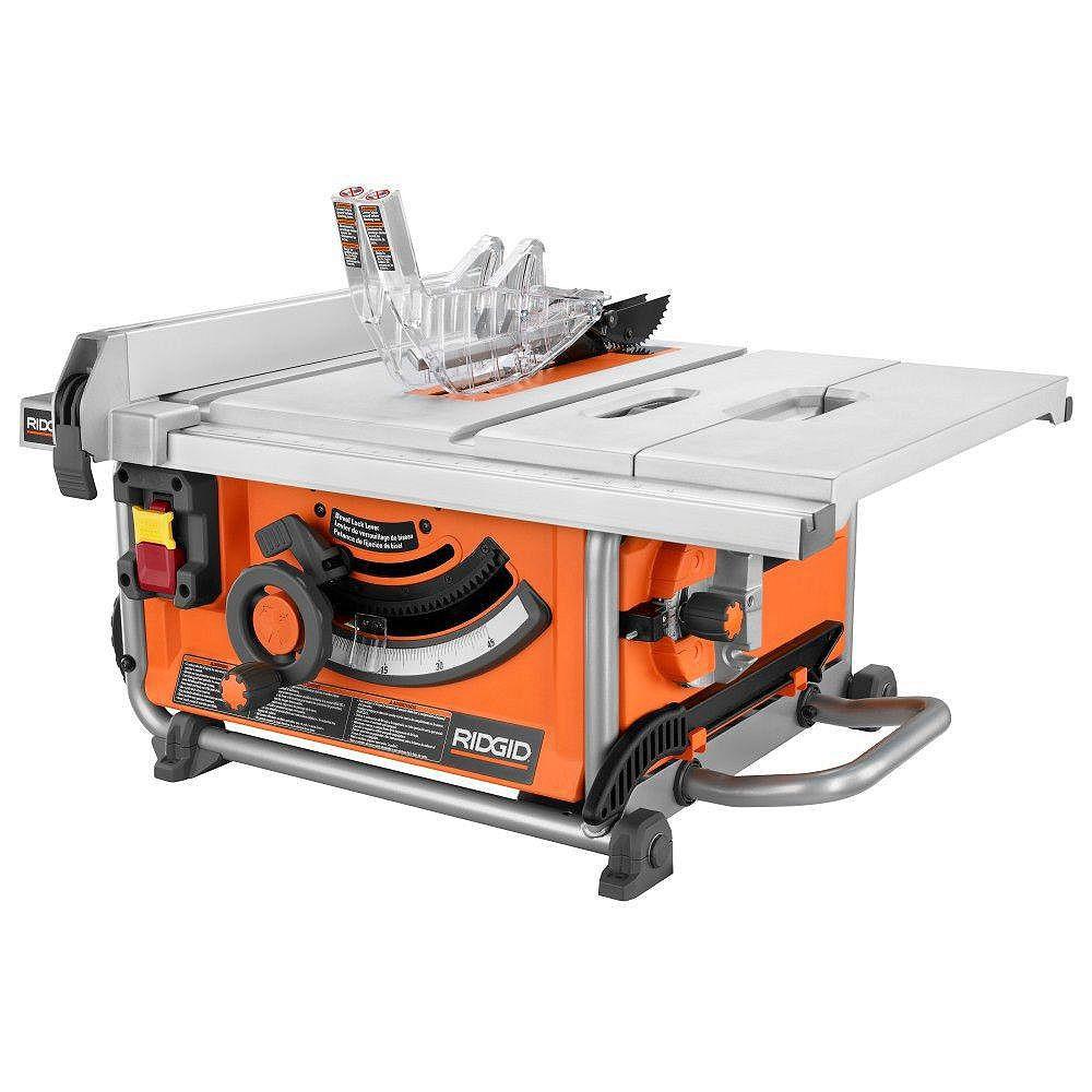 RIDGID 15 Amp 10 -inch Compact Portable Table Saw