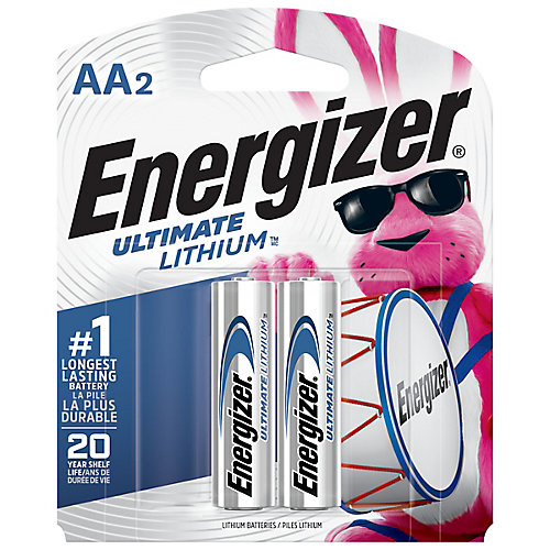 Batteries Energizer Ultimate Lithium AA, 2 Pack