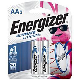 Piles AA Ultimate Lithium, emballage de 2