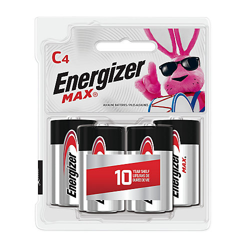 Piles alcalines C Energizer MAX, 4 Pack