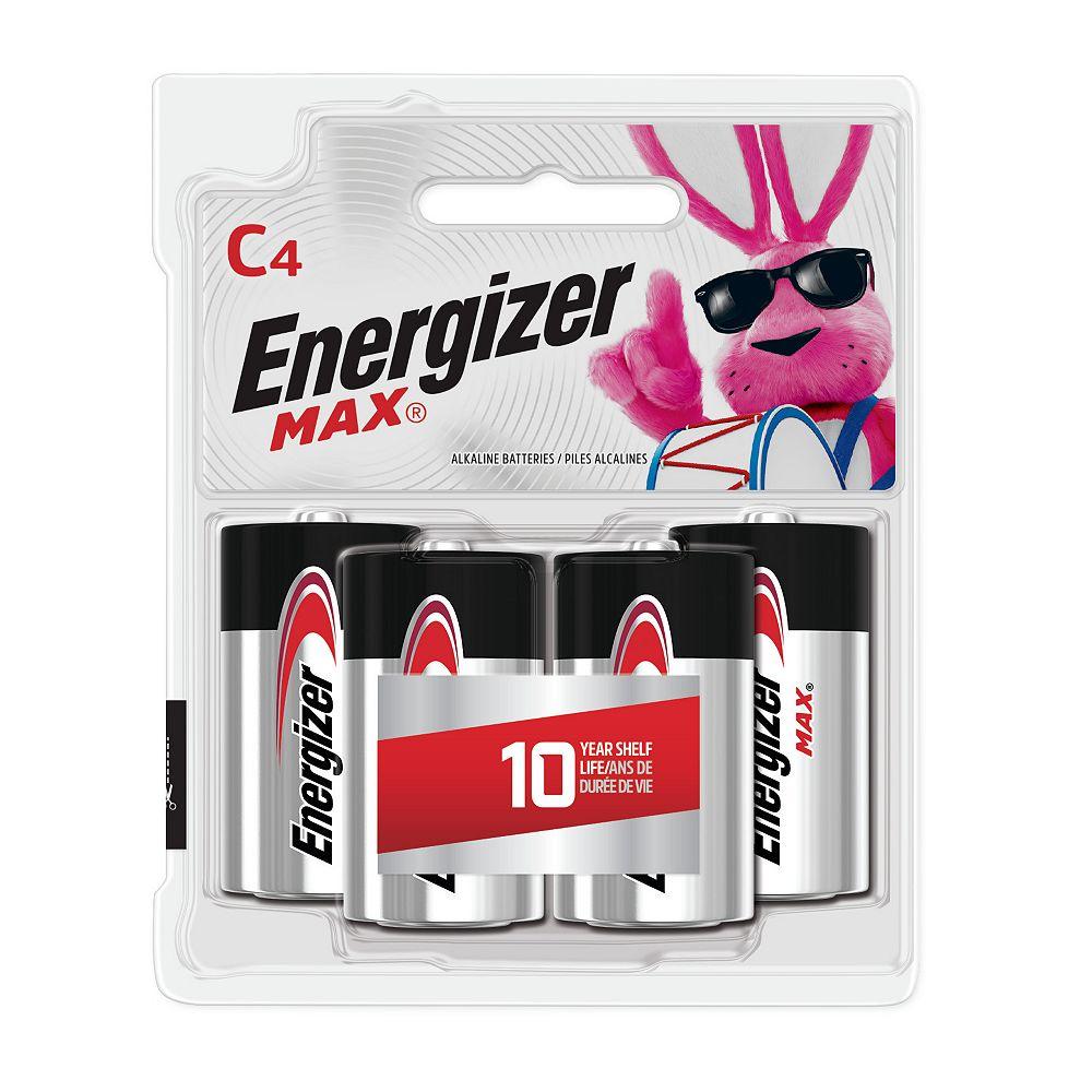 Energizer Energizer MAX Alkaline C Batteries, 4 Pack