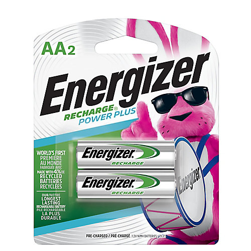 Batteries AA rechargeables Energizer Recharge Plus Rechargeable, 2 Pack