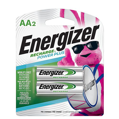 Energizer Energizer Recharge Power Plus Rechargeable AA Batteries, 2 Pack