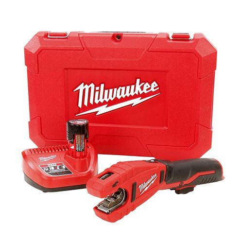 Milwaukee Tool M12 12V Lithium-Ion sans fil de cuivre Coupe-tube Kit W / (1) 1.5Ah Batterie, Chargeur & Hard Case
