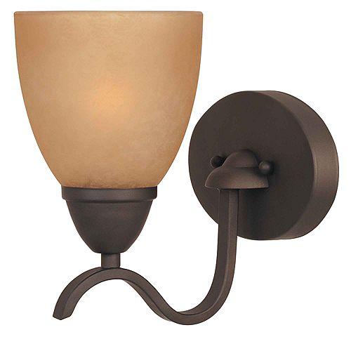 Commercial Electric 1-Light Oil Rubbed Bronze Bath Bar