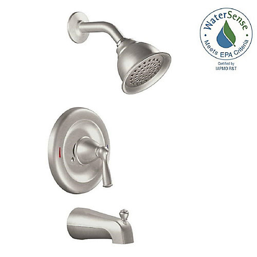 Banbury Single-Handle 1-Spray Tub and Shower Faucet in Spot Resist Brushed Nickel (Valve Included)