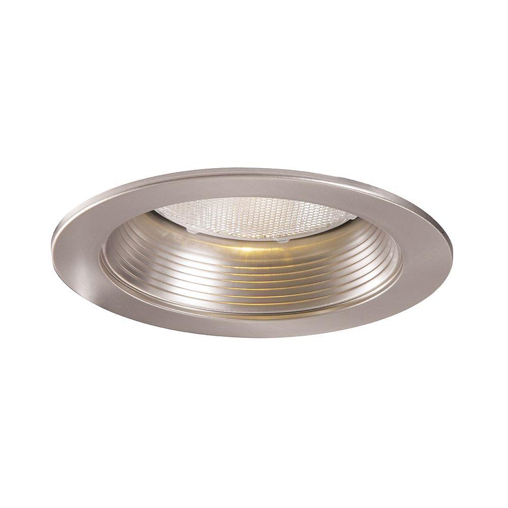 Halo Satin Nickel Metal Baffle and Trim Ring-5 Inch Aperture