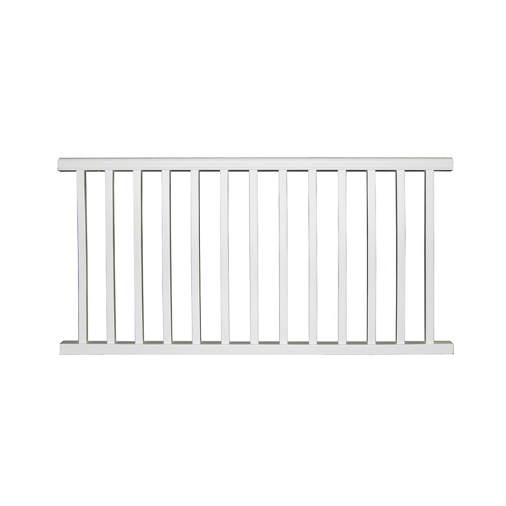 Plastival 67.75 Inch x 36 Inch Pre-Assembled Vinyl Classic Railing Section (white)
