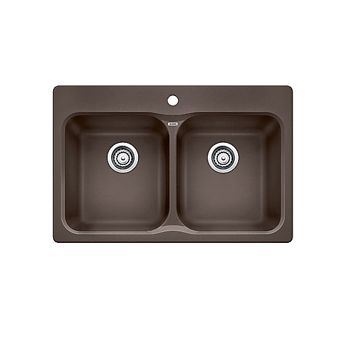 VISION 210, Equal Double Bowl Drop-in Kitchen Sink, SILGRANIT Café