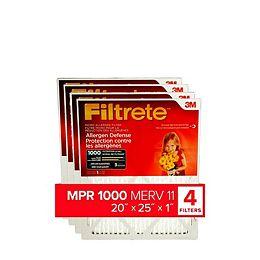 20-inch x 25-inch x 1-inch Allergen Defense MPR 1000 Micro Allergen Filtrete Furnace Filter (4-pack)