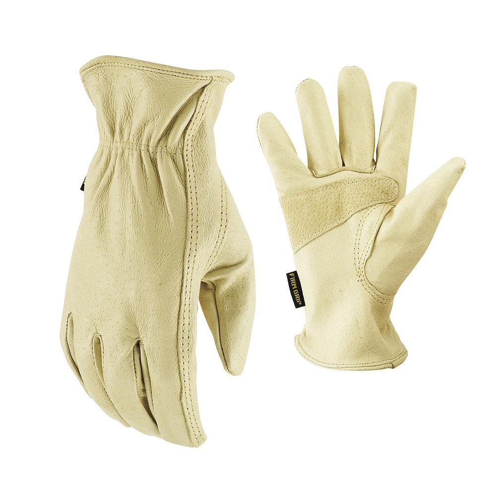 Firm Grip Full Grain Pigskin Leather Gloves - Small