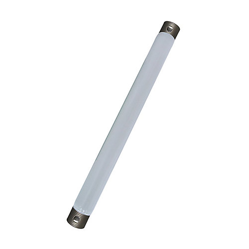 24 In. Downrod, White Finish