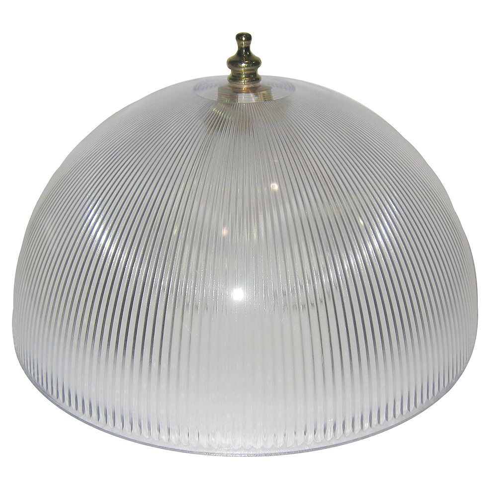 Shawson Lighting 8 In Dome Clip On Clear Finish The Home Depot Canada