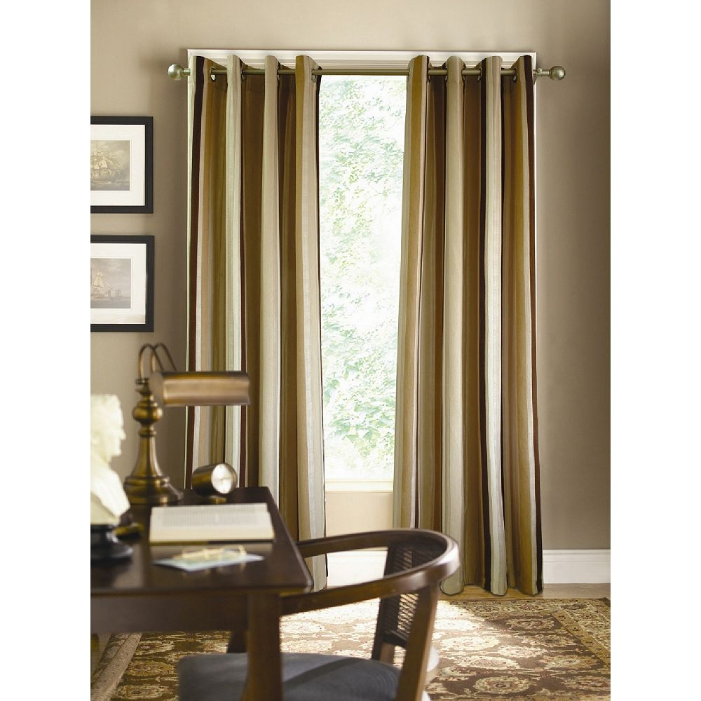 Couture Chenille Raised Curtain, Brown - 52 Inches X 84 Inches