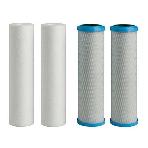 5 micron Filters (2 - Sediment, 2 - Carbon) (4-Pack)