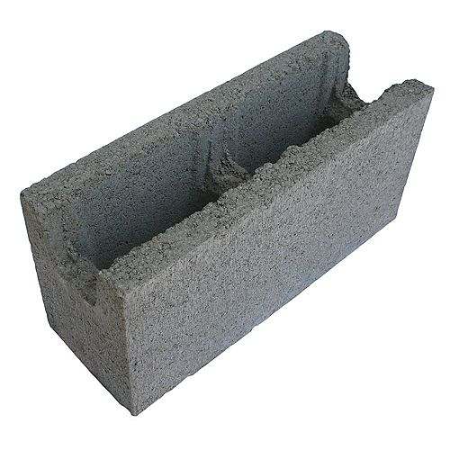 Basalite Concrete Products SM BB GRIS 15CM