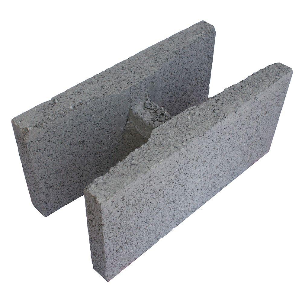 Basalite Concrete Products SM H BLOC GRIS 35MPA 20CM