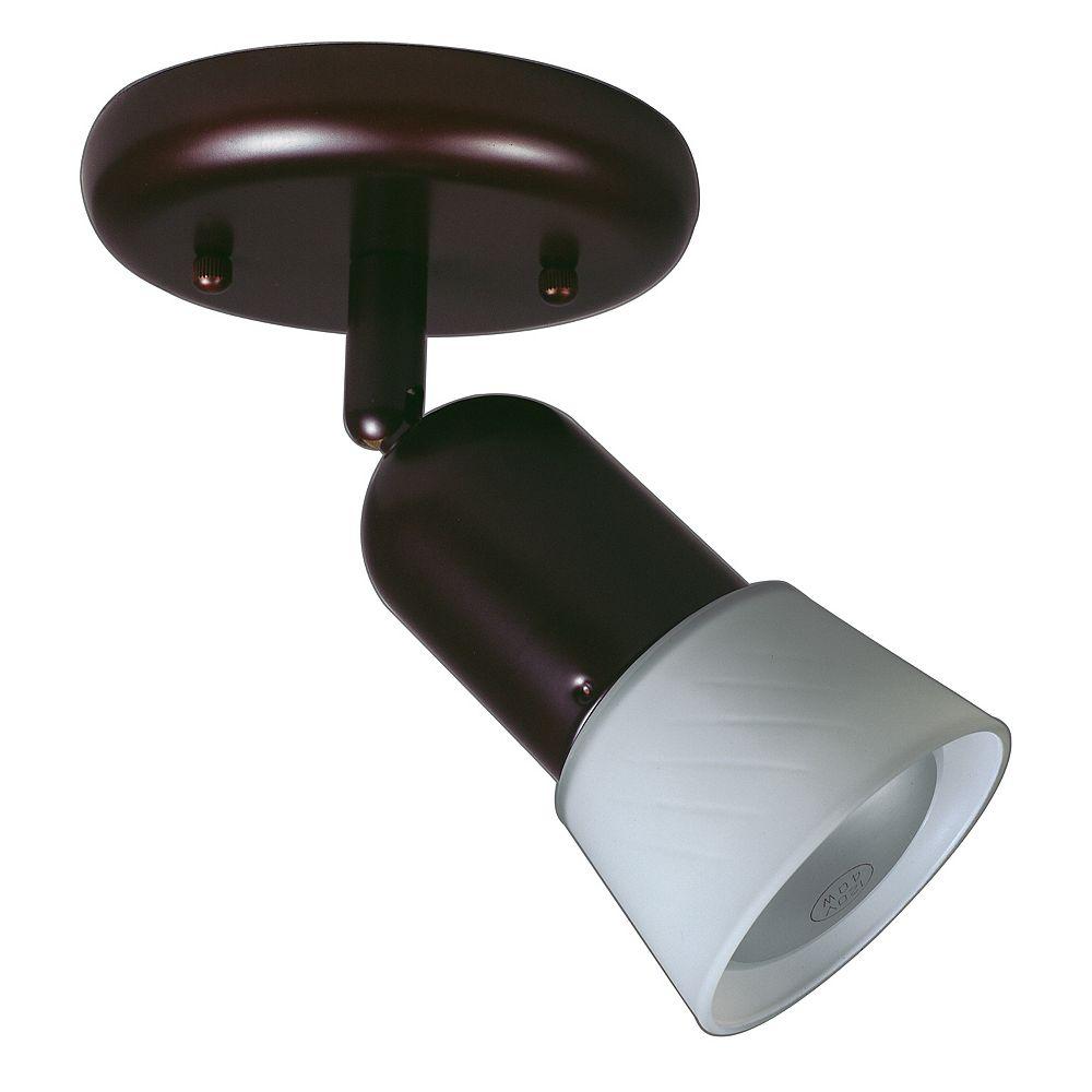Hampton Bay Semi-plafonnier rétro trous d'épingle 1 ampoule bronze antique