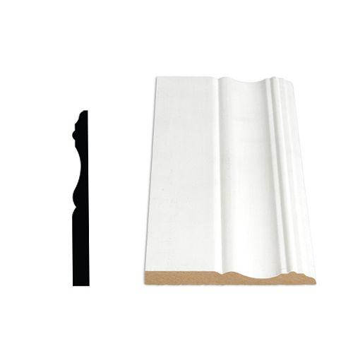 3/8-inch x 3 7/8-inch x 144-inch Colonial MDF Painted Decosmart Fibreboard Baseboard Moulding