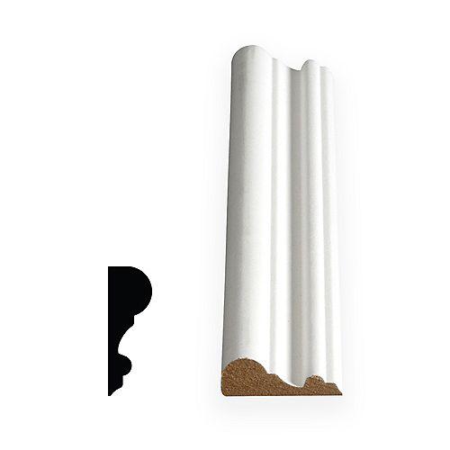 5/8-inch x 1 3/4-inch x 96-inch x 96-inch MDF Painted Decosmart Fibreboard Chair Rail Moulding