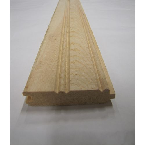 11/16 Inch x 3 Inch - 8 Feet Pine Select Knty Edge and Centre Beaded Pattern Reverse side is VJT