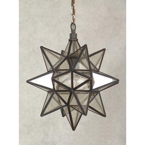 Luminaire Suspendu à 1 Lumière, Collection l'Etoile de Morave