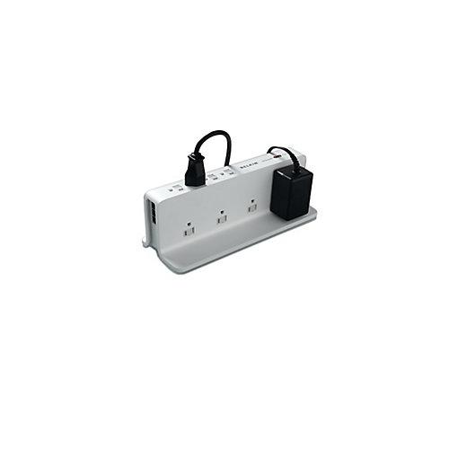 Parasurtenseur compact à 8 prises, cordon de 8 pi, protection de ligne téléphonique
