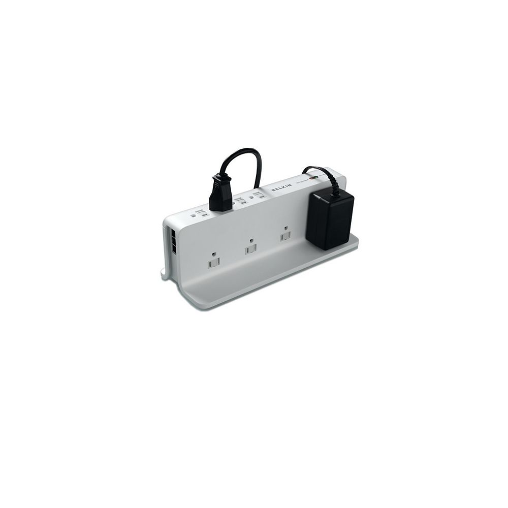 Belkin 8 Outlet Compact Surge 8 Ft. Cord Telephone Protection