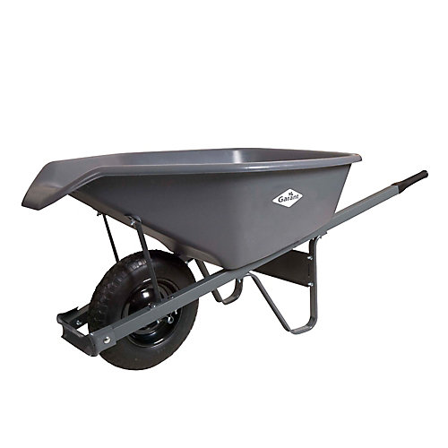 Ez Pour 6 Cubic Foot Poly Wheelbarrow