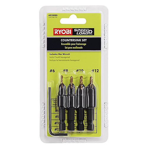 Power Groove Countersink Set (5-Piece)