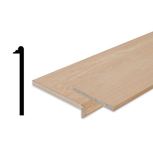 3/4-inch x 10 1/8-inch x 42-inch Oak Stair Tread Cap & Riser Kit