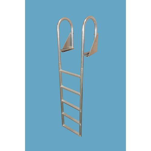 """Aluminum Dock Ladder, 5-Step Flip-Up"""