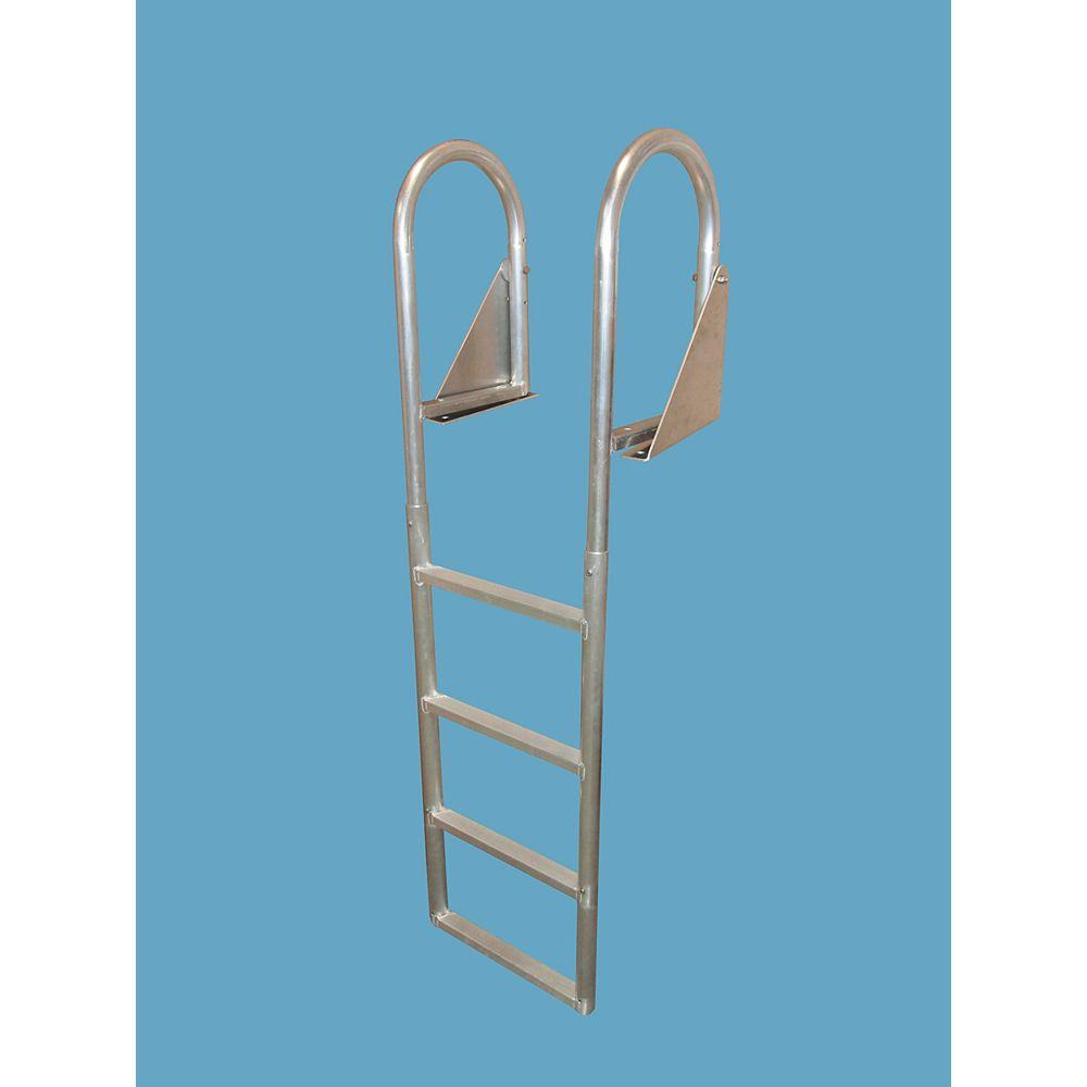 """Dock Edge """"Aluminum Dock Ladder, 4-Step Flip-Up"""""""