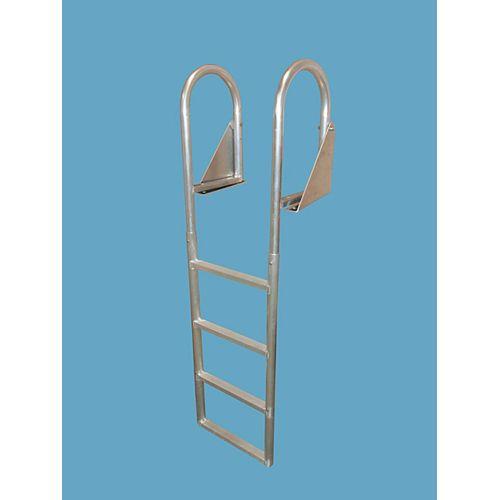 """Aluminum Dock Ladder, 4-Step Flip-Up"""
