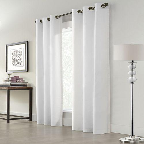 Home Decorators Collection Everett Rideau à Oeillets Assombrissant 40 pouces largeur X 84 pouces longueur, Blanc