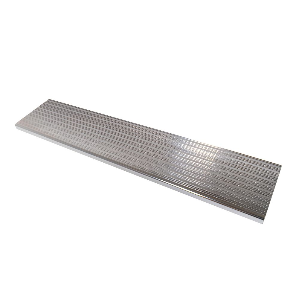 Pylex Collection 10 - Aluminium Stair Tread Shiny Anodised - 48 in x 9 ¾ in