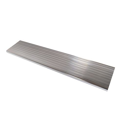 Collection 10 - Aluminium Stair Tread Shiny Anodised - 48 in x 9 ¾ in