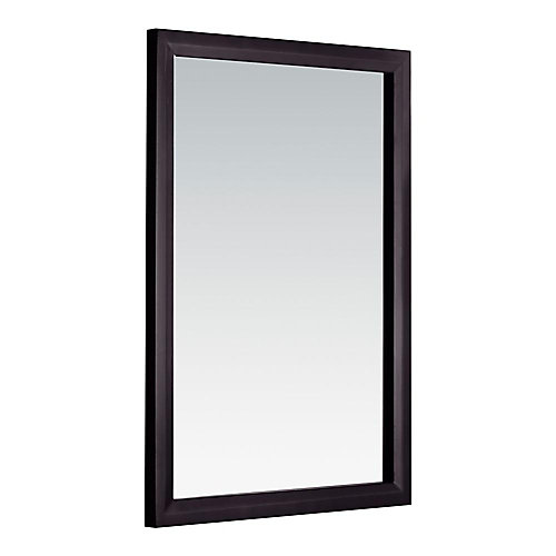 Urban Loft 30-inch L x 22-inch W Framed Wall Mirror in Dark Espresso Brown