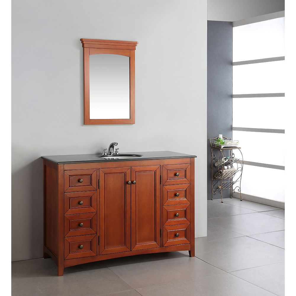 Simpli Home Yorkville 48-inch W 6-Drawer Vanity